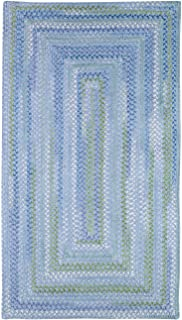 product image for Capel Waterway Blue Rug Rug Size: Concentric Square 9'6""