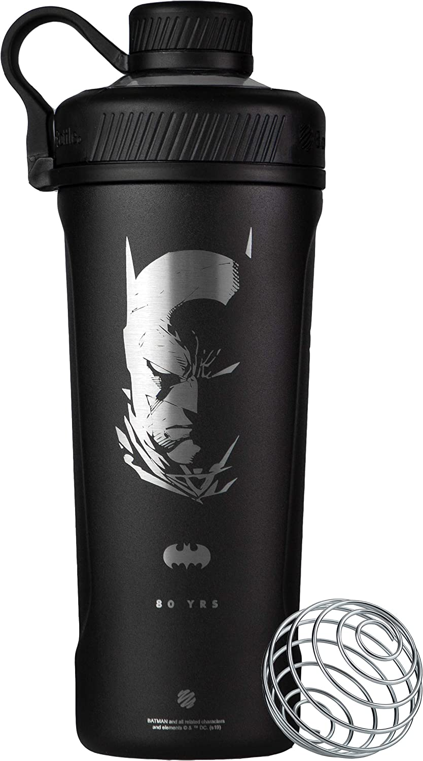 BlenderBottle Justice League Radian Insulated Stainless Steel, 26-Ounce, Batman Mask