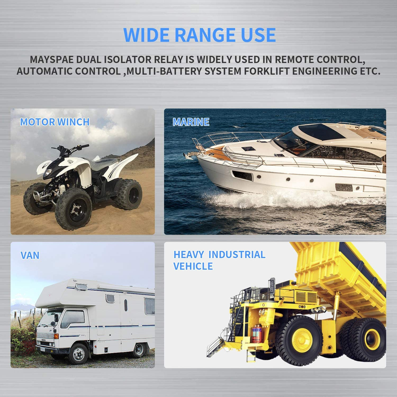 Relais Relais de d/émarrage automatique pour contacteur de d/émarrage automatique 500A DC 12V SPST de d/émarreur /à courant fort