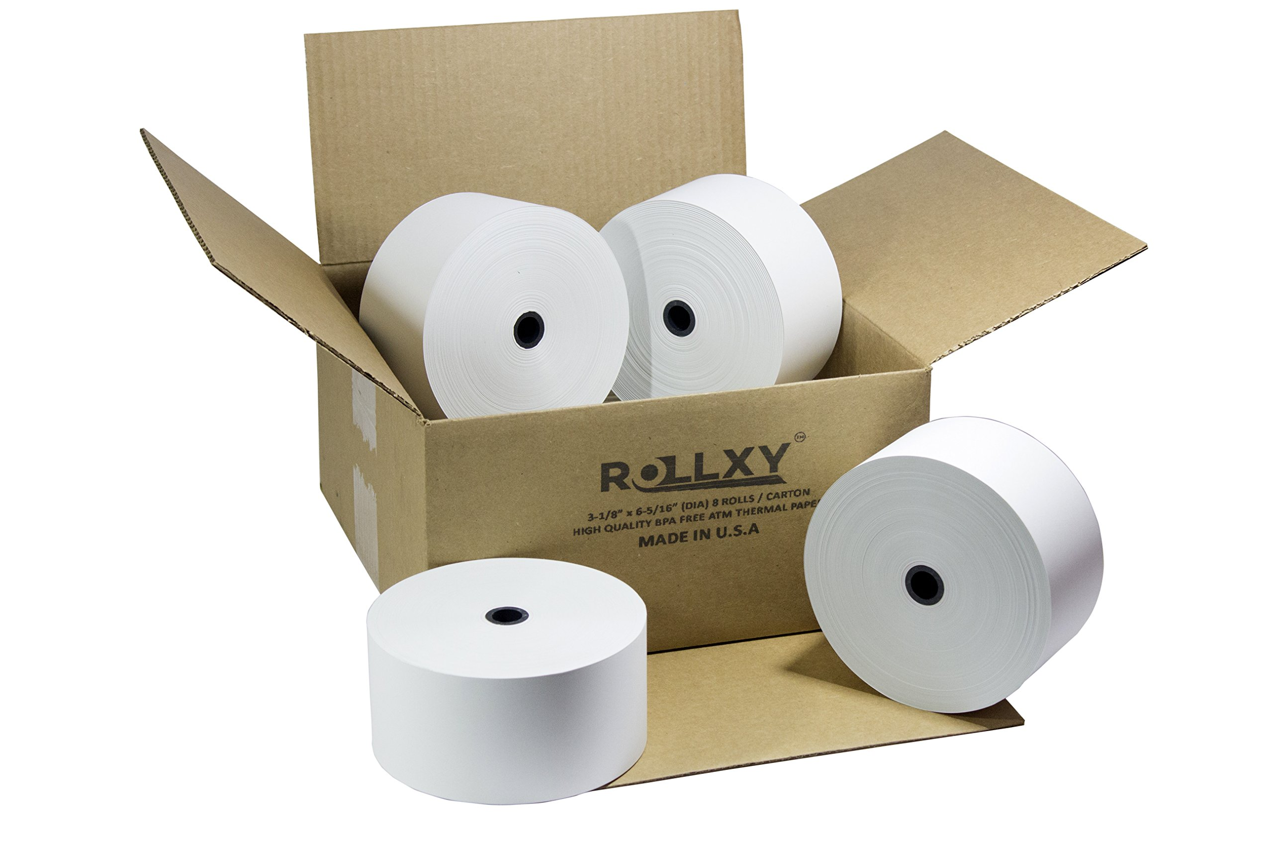 Nautilus Hyosung Halo - 3 1/8'' x 815' Heavy Thermal Paper (8 Rolls) by PosPaperRoll