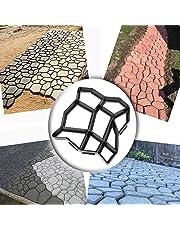 WOVTE DIY Walk Maker Concrete Stepping Stone Mold Garden Lawn Pathmate Stone Mold