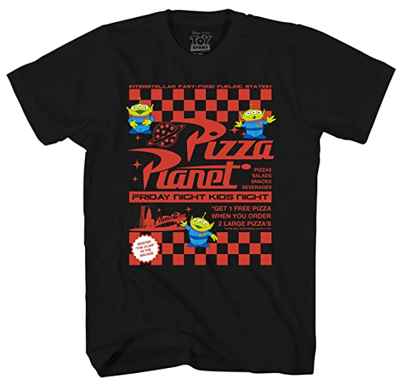 Amazon Com Disney Toy Story Pizza Planet Flyer Men S Adult Graphic