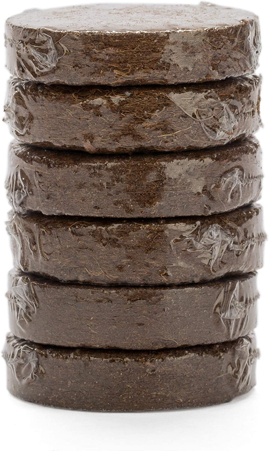 Organic Soil for Indoor/Outdoor Plants, Expands to Fit 3 Inch and 4 Inch Pots - 6 Pack