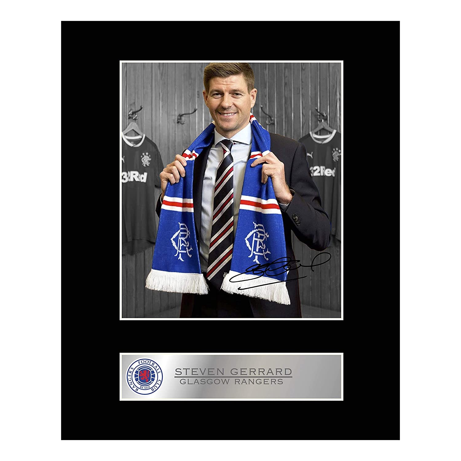 Rangers Signed And Framed Photo Autographed Steven Gerrard
