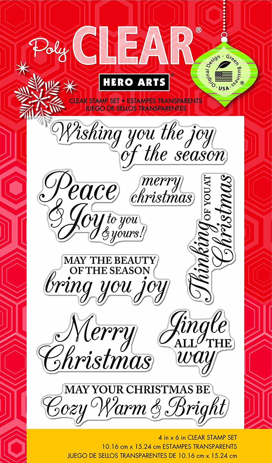 Hero Arts Merry Christmas Message Tampons Transparents CL722