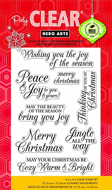 Christmas Stamps.Hero Arts Merry Christmas Message Clear Stamps