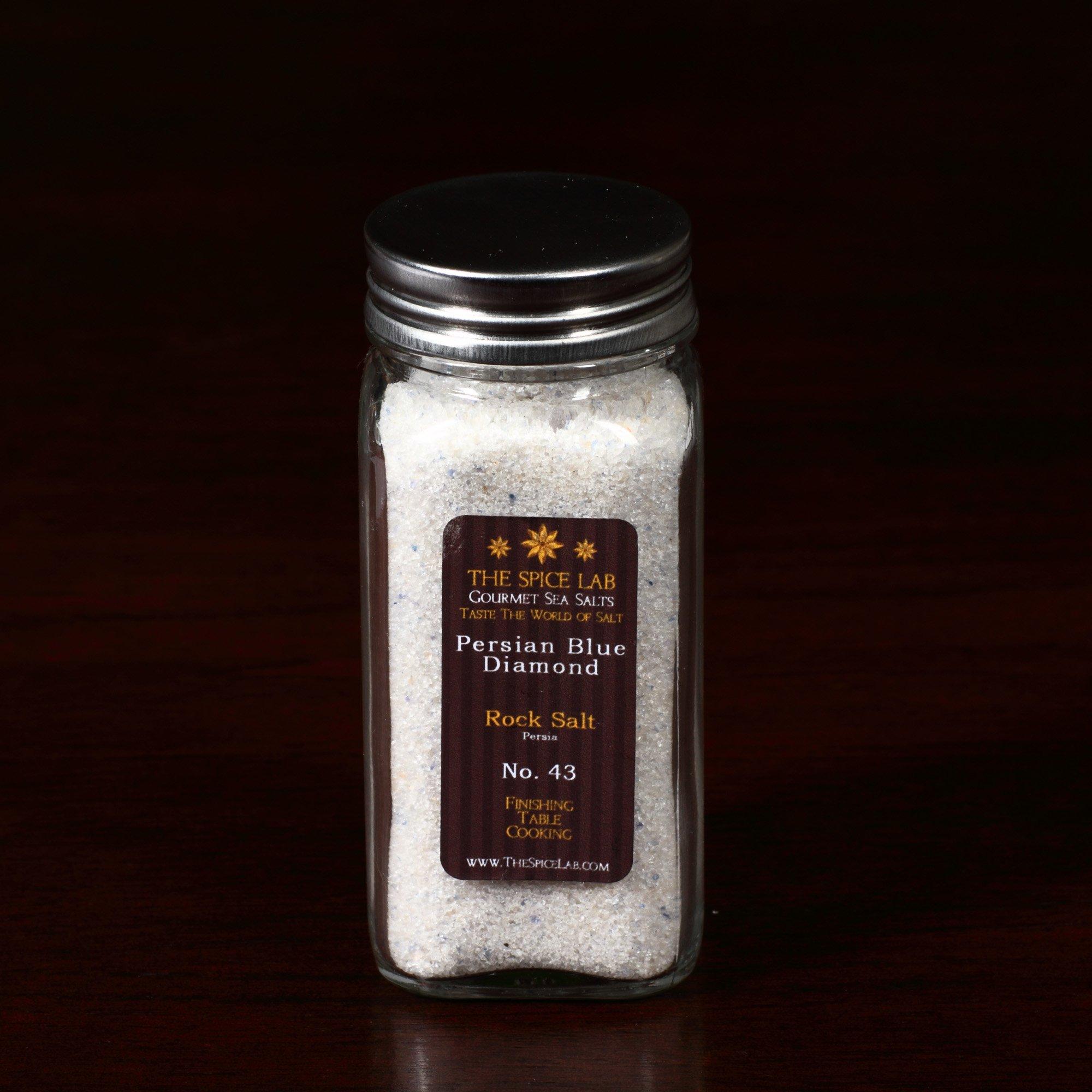 Persian Blue Diamond Finishing Salt (Fine Grain) - Rock Salt - in a Spice Bottle