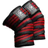 Mava Sports Knee Wraps (Pair) for Cross Training WODs,Gym Workout,Weightlifting,Fitness & Powerlifting - Knee Straps for…