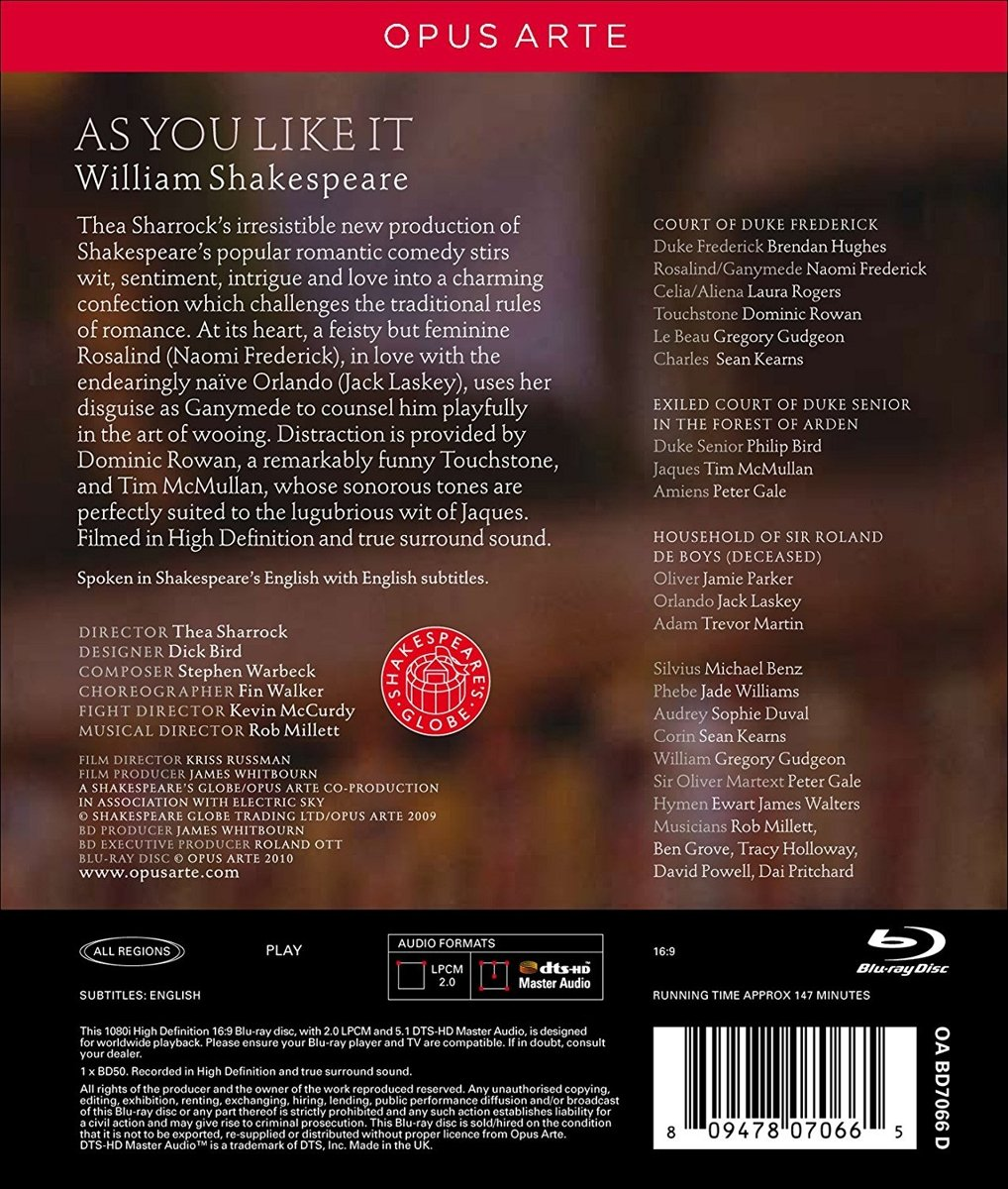 Amazon com: William Shakespeare: As You Like It (Recorded