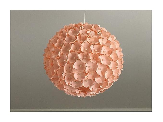Lampadario Carta Di Riso : Peach pearl flower lampada a sospensione paralume lampadario