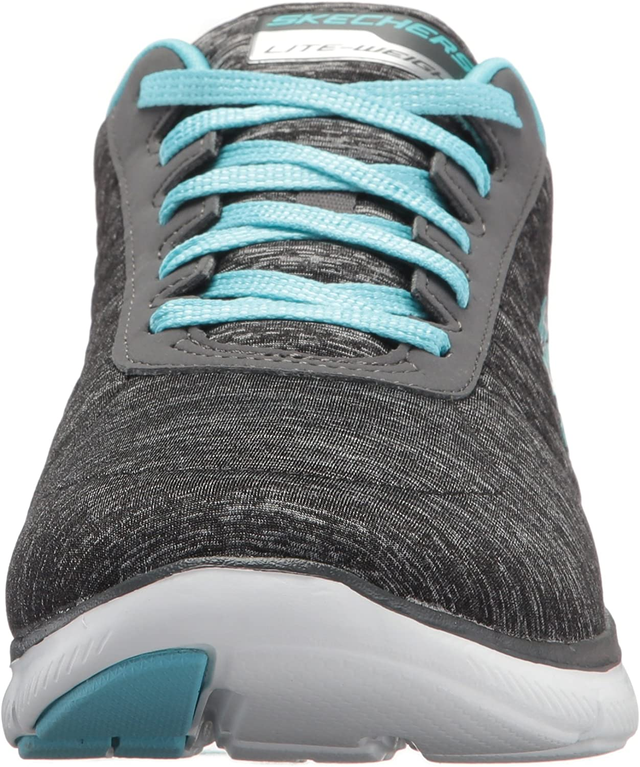 Skechers Flex Appeal 2.0, Sneaker Basse Donna Black Light Blue