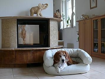 Fergus - Cama para perros de piel sintética Perros perro Sofá Sofá M 60 x 80 Color Blanco: Amazon.es: Productos para mascotas