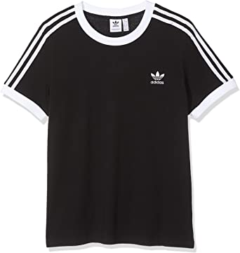 Kleidung & Accessoires Adidas 3 Stripes Tee Women Damen ...