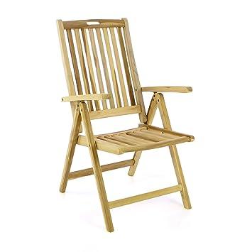 Perfekt Divero Stuhl Gartenstuhl Terrassenstuhl Klappstuhl Aus Teak Holz Hochlehner  Mit Armlehnen Verstellbare Rückenlehne Klappbar Massiv