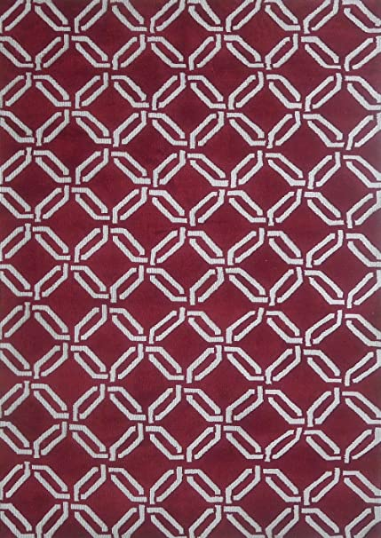 "RUGADDICTION Alfombra color borgona hecha a mano estilo unica moderno lujosa, 60""x 84"""
