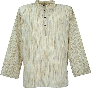 GURU-SHOP, Camisa India, Corta Kadhi Kurta, Beige, Algodón, Tamaño:M, Camisas de Hombre: Amazon.es: Ropa y accesorios