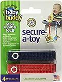 Baby Buddy Secure-A-Toy Bandas para asegurar los juguetes, color azul marino y rojo