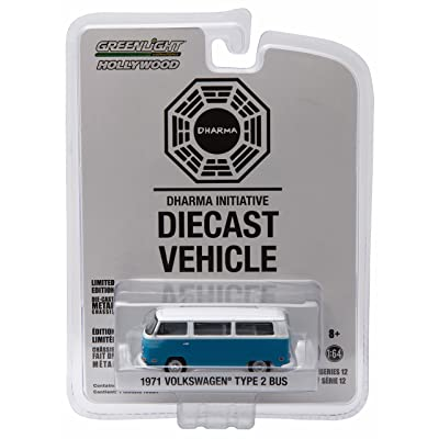 Greenlight 1971 Volkswagen Type 2 Bus (T2B) Darma Van from The Classic Television Show Lost GL Hollywood Series 12 2016 Collectibles Limited Edition 1:64 Scale Die Cast Vehicle: Toys & Games