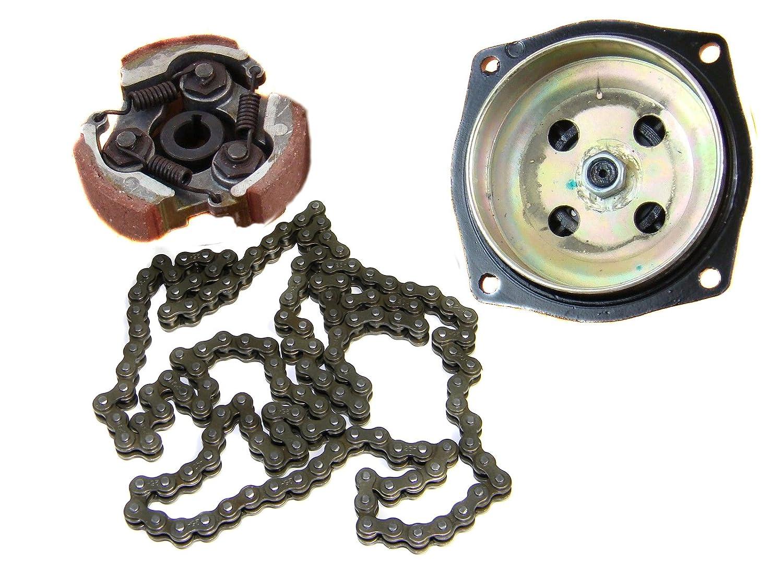 New Hi-Q 25H 6T Gear Box Drum Clutch Pad Chain Kit