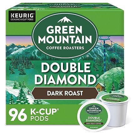 Green Mountain Coffee Roasters Double Diamond, Single-Serve Keurig K-Cup Pods, Dark Roast Coffee, 96 Count