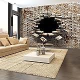 murando - Fototapete Abstrakt 300x210 cm - Vlies Tapete - Moderne Wanddeko - Design Tapete - Wandtapete - Wand Dekoration - Mauer Ziegel a-A-0098-a-b