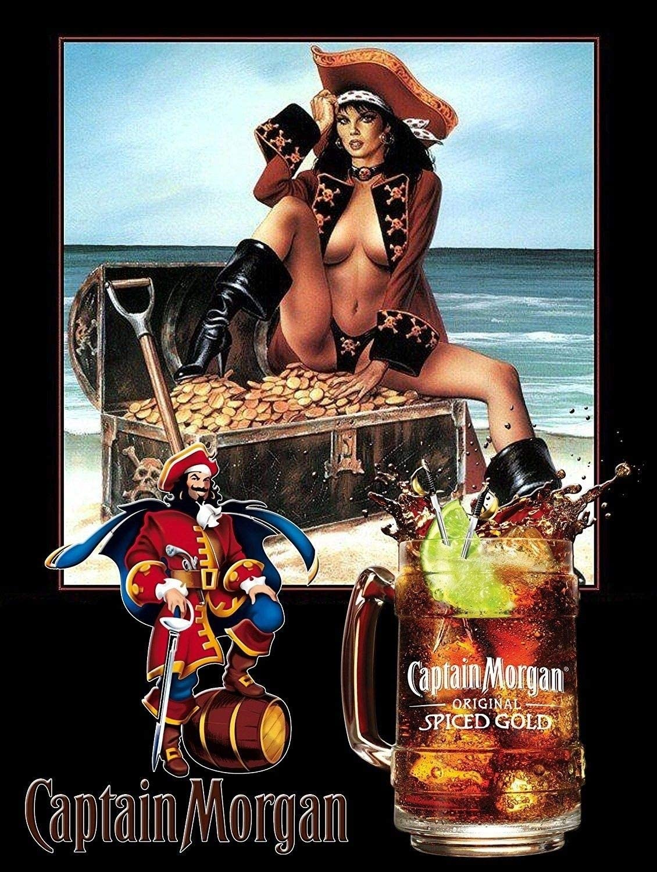 Classics Captain Morgan Spiced Gold Retro Metal Tin Sign TIN Sign 7.8X11.8 INCH