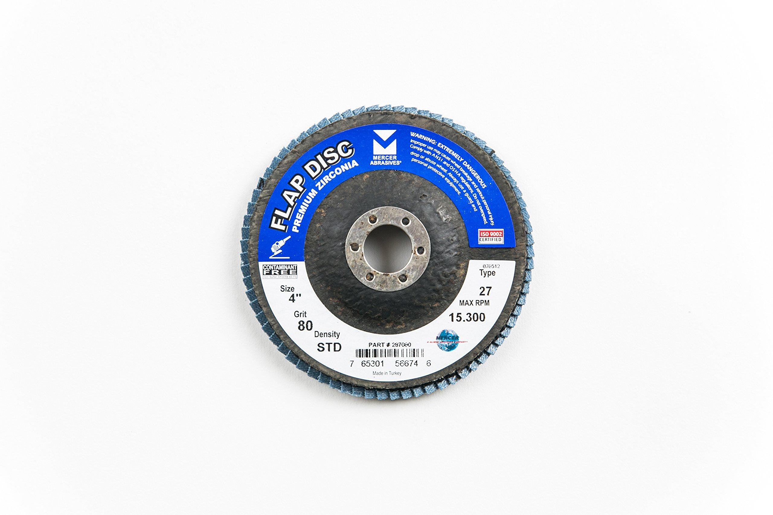 Mercer Industries 287080 Zirconia Flap Disc, Type
