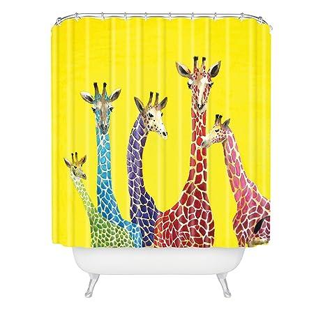 Deny Designs Clara Nilles Jellybean Giraffes Shower Curtain, 69u0026quot; ...