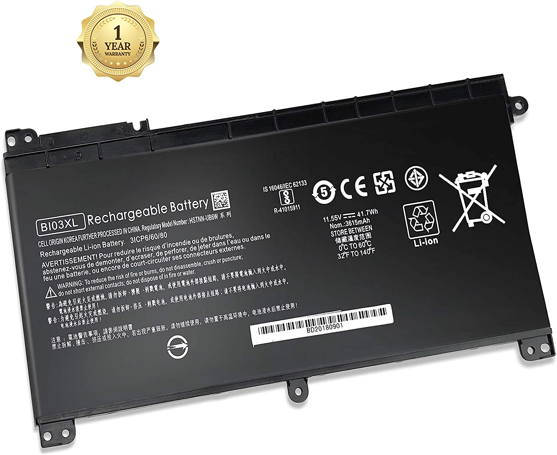 B103XL 844203-850 BI03XL Battery Fit for HP Pavilion X360 m3-u000 Series M3-U000 M3-U100 M3-U001DX M3-U003DX M3-U101DX M3-U103DX M3-U105DX, 11.55V 41.7wh