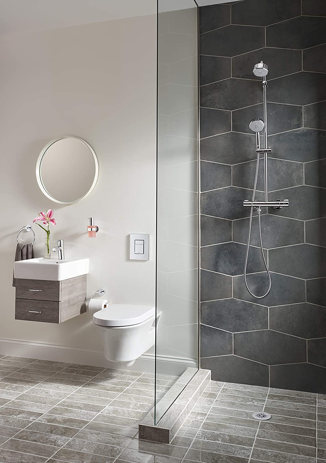 Essentials Toilet Paper Holder Without Cover Grohe 40689001