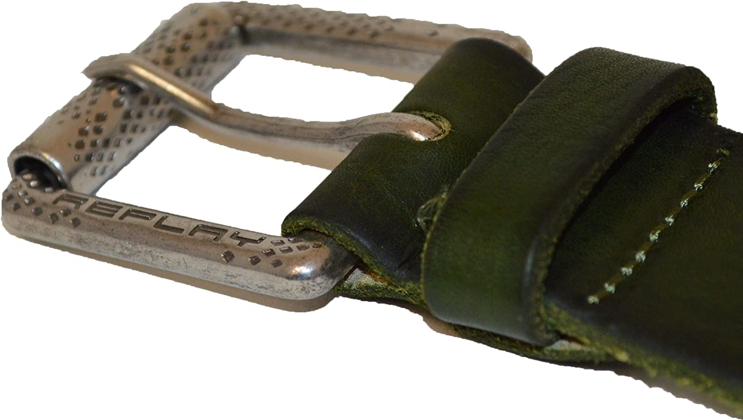 Replay Mens Belts 34 Inch Vintage Green
