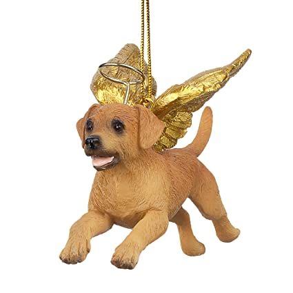 christmas tree ornaments honor the pooch golden retriever holiday angel dog ornaments