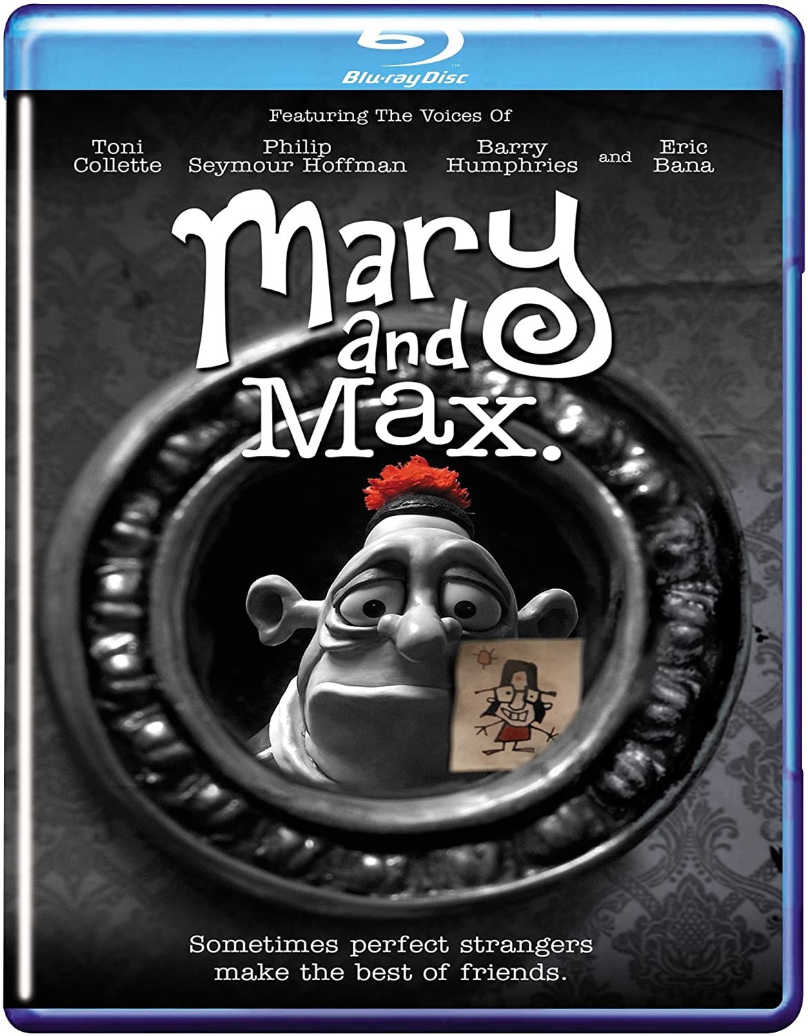 Amazon Com Mary And Max Blu Ray Toni Collette Philip Seymour Hoffman Eric Bana Adam Elliot Movies Tv