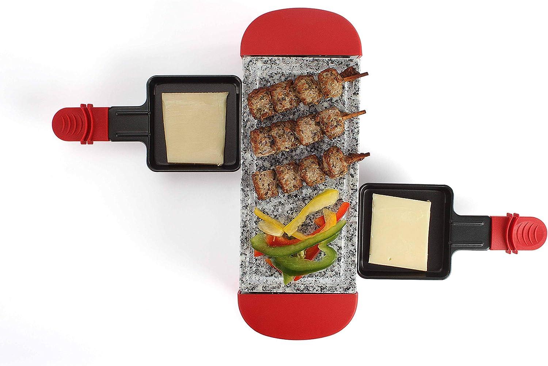 Domoclip doc156r Raclette rojo 2personas, 350