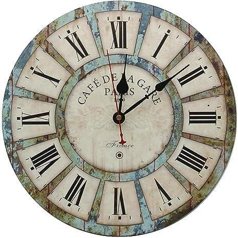 GZJYCK Reloj de Pared Decorativo Grande, Reloj de Pared silencioso Non Ticking para Sala de
