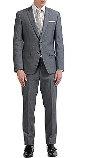 ce4590ad7fb Amazon.com: Hugo Boss Henry/Glow Men's Wool Silk Dark Blue One ...