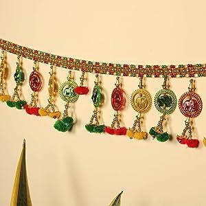 TIED RIBBONS Door Hanging Bandanwar Toran (96.5 cm X 12.5 cm) - Home Decoration Item for Home Door Wall Décor