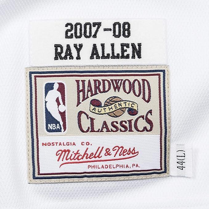 Mitchell   Ness Ray Allen  20 Boston Celtics 2007-08 Authentic NBA Jersey  White  Amazon.co.uk  Sports   Outdoors beefd9396