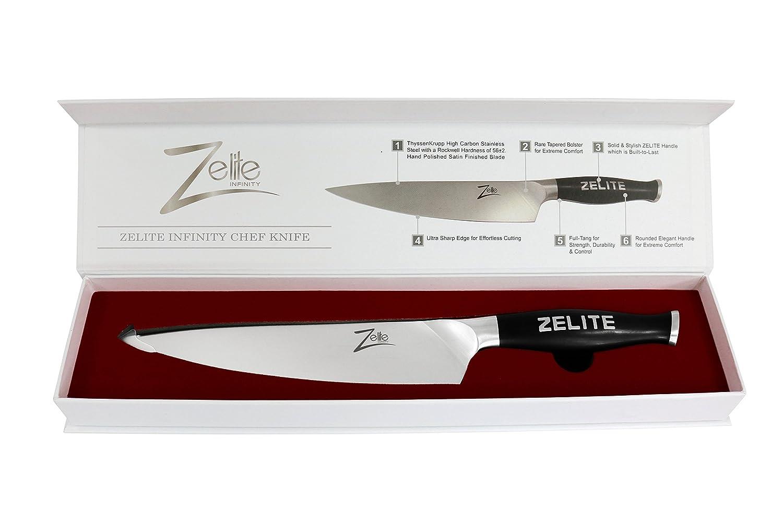 amazon com zelite infinity chef knife comfort pro series high amazon com zelite infinity chef knife comfort pro series high carbon stainless steel knives x50 cr mov 15 8