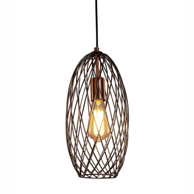 Mstar vintage cage pendant light copper finished light shade metal
