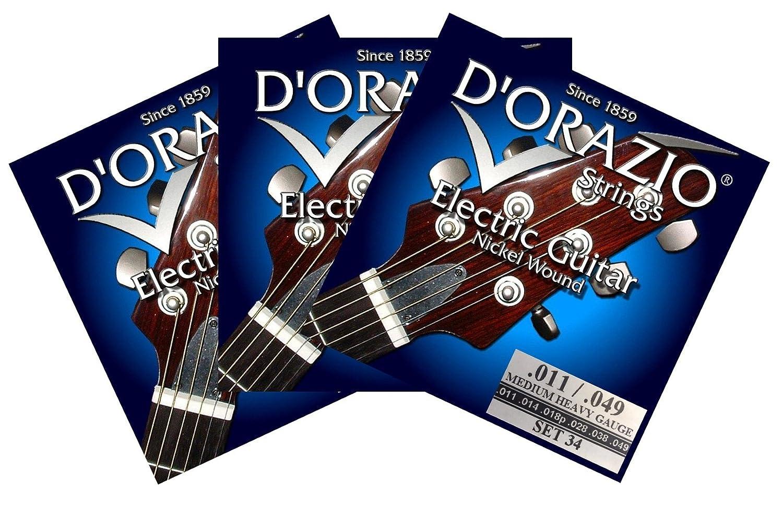 D orazio strings-set 34 cuerdas para guitarra eléctrica 011 3 ...