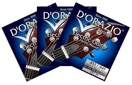 D orazio strings-set 34 cuerdas para guitarra eléctrica 011 3 unidades