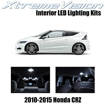 Xtremevision Interior LED for Honda CR-Z 2010-2015 (9 Pieces) Pure White Interior LED Kit + Installation Tool Tool: Automotive