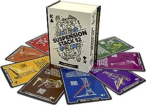 Stack 52 tarjetas de suspensión para ejercicio. Compatible con TRX y otras correas de entrenamiento.: Amazon.es: Deportes y aire libre
