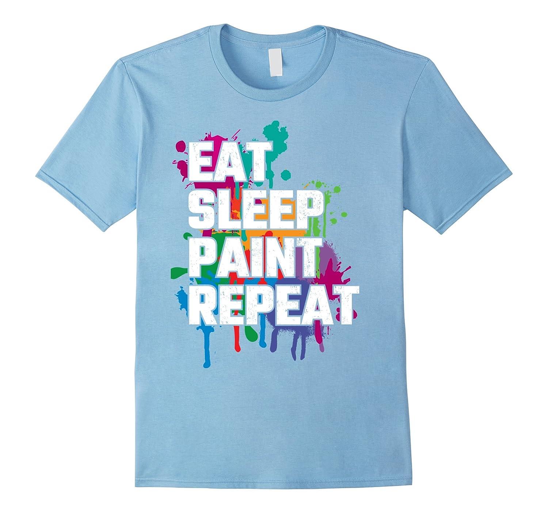 Womens Repeat Painting T Shirt Painter-Awarplus