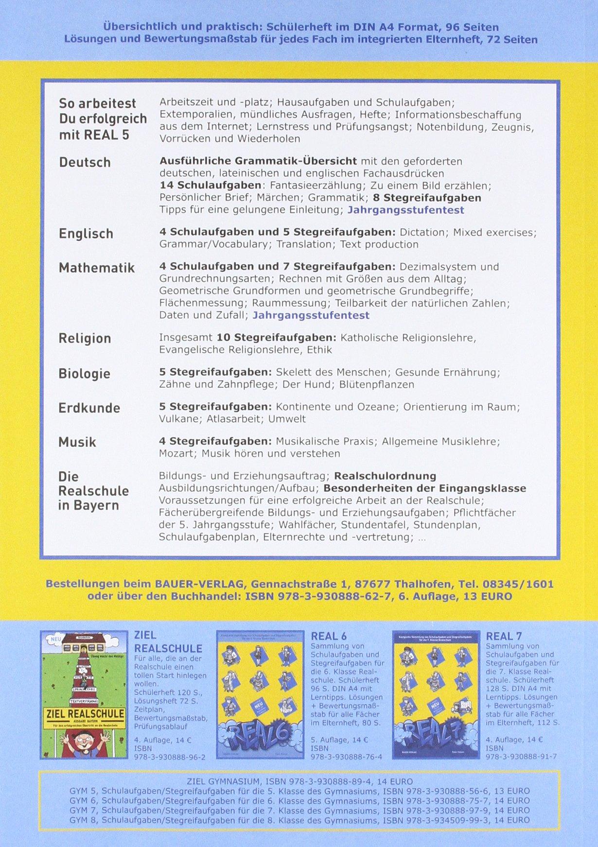 Real 5 Komplette Sammlung Von Schulaufgaben Und Stegreifaufgaben