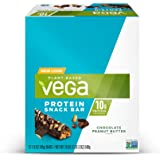 Vega Protein Snack Bar, Chocolate Peanut Butter, 12 ct