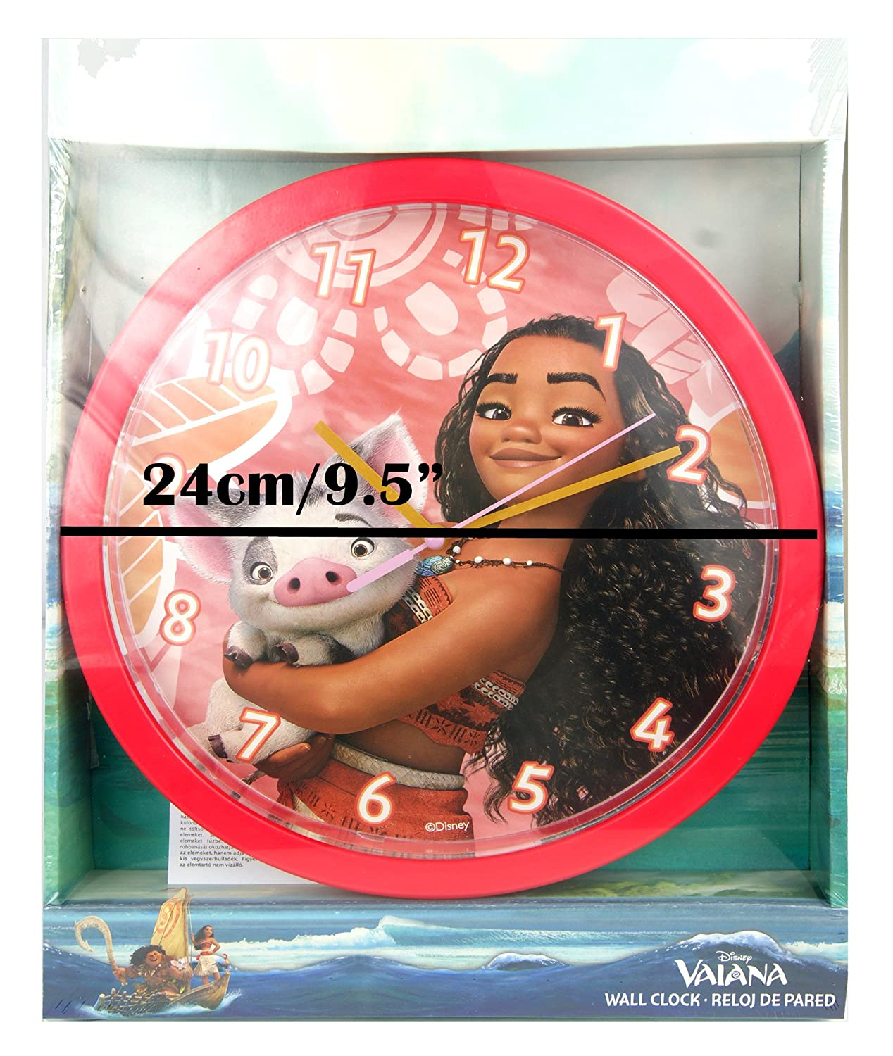Amazon.com: Childrens Wall Clock, Vaiana Moana Wall Clock, Officially Licensed,Brand: Home & Kitchen