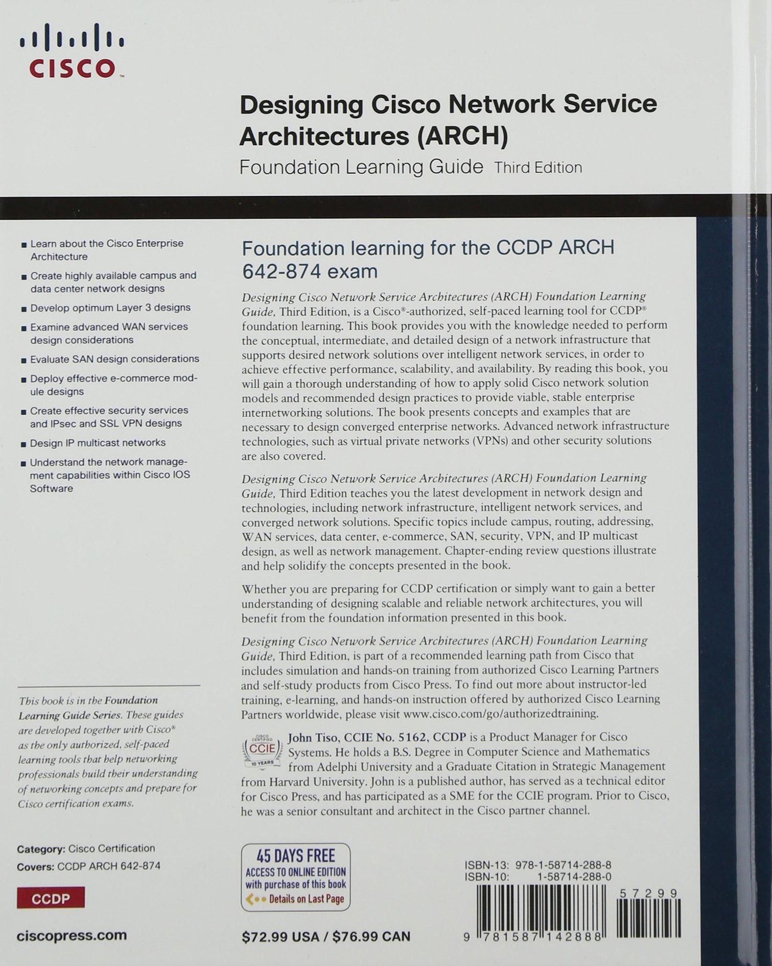 Amazon designing cisco network service architectures arch amazon designing cisco network service architectures arch foundation learning guide ccdp arch 642 874 john tiso livres 1betcityfo Choice Image