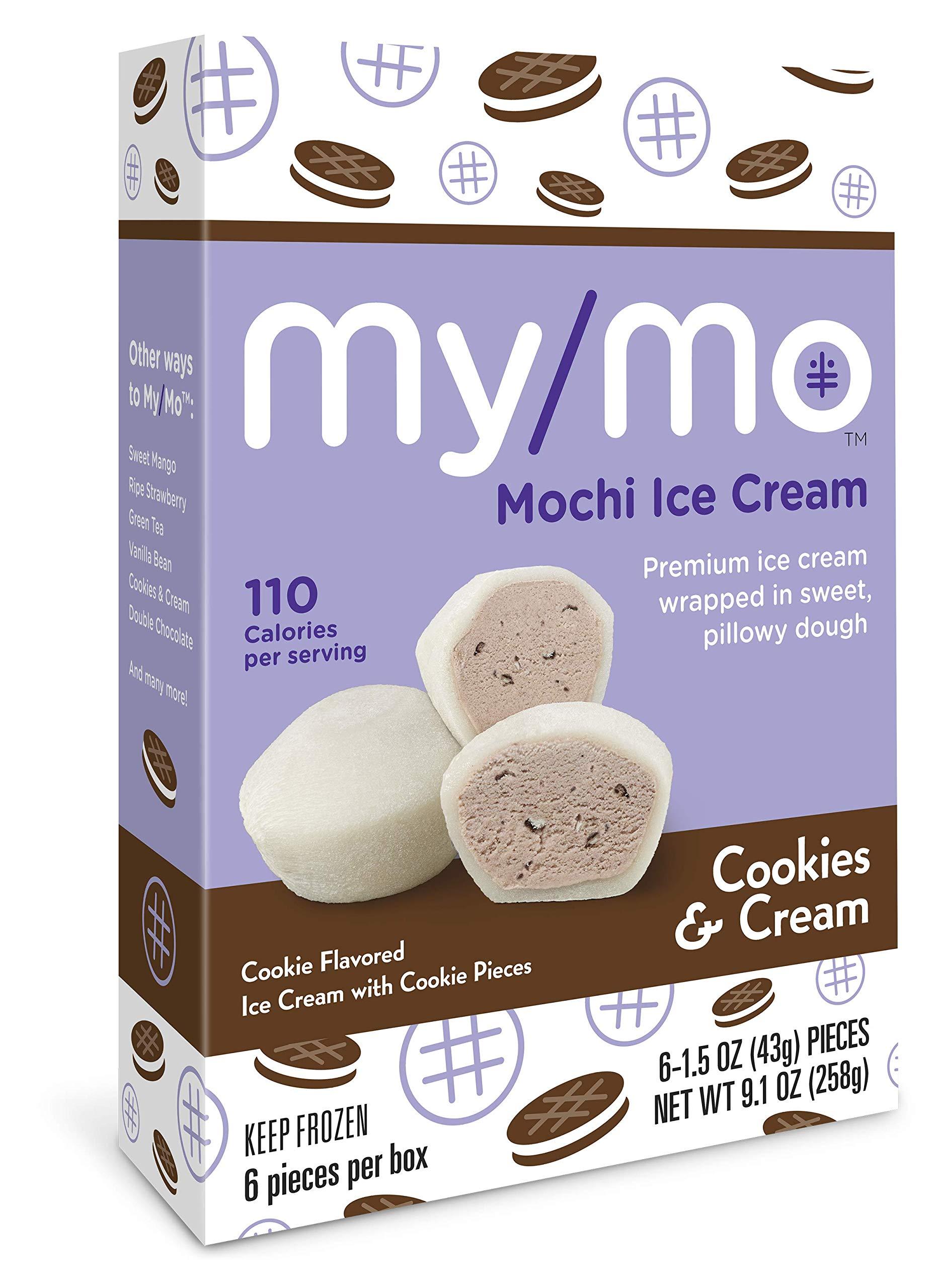 My/Mo Cookies & Cream Mochi Ice Cream - 36 Mochi Ice Cream Balls (6 x 6ct. Boxes)